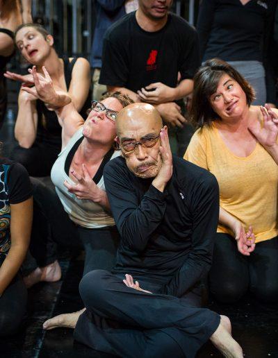 Atelier de danse bûto avec Maro Akaji © Arthur Péquin